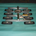 Custom Suction Foot, Spreader Bar with 8 Pads